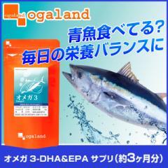 お徳用オメガ3-DHA&EPA&α-リノレン酸サプリ(約3ヶ月分)送料無料 サプリ 健康食品 えごま油 亜麻仁油 DHA EPA 魚 リノレン酸