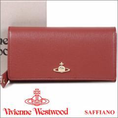 ヴィヴィアンウエストウッド 財布 ヴィヴィアン Vivienne Westwood 長財布 レディース レンガ色 1032V SAFFIANO PINK 17AW