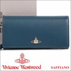 ヴィヴィアンウエストウッド 財布 ヴィヴィアン Vivienne Westwood 長財布 レディース メンズ ブルー 1032V SAFFIANO BLUE 17AW