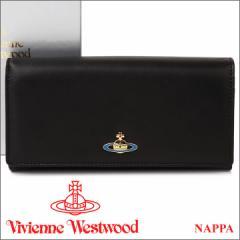 ヴィヴィアンウエストウッド 長財布 ヴィヴィアン Vivienne Westwood レディース メンズ 財布 ブラック 1032V NAPPA BLACK