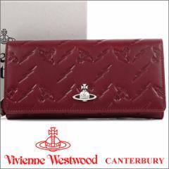 ヴィヴィアンウエストウッド 長財布 ヴィヴィアン Vivienne Westwood レディース 財布 バーガンディ 51060025 CANTERBURY BURGUNDY 18SS