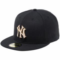 【新品】ニューエラ 5950キャップ スペシャルロゴ ラインストーン ニューヨークヤンキース ブラック ゴールド ブラック New Era NewEra