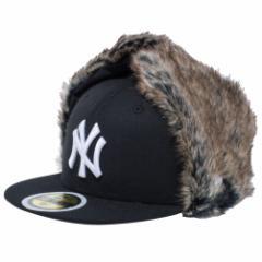 【新品】ニューエラ 5950キッズ キャップ ドッグイヤー ベーシックファブリック ニューヨークヤンキース ブラック New Era NewEra