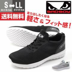 即納 あす着 送料無料 スニーカー メンズ 黒 スリッポン 靴 BADBOY 81-29012