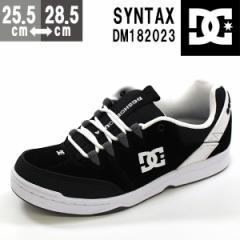 即納 あす着 送料無料 スニーカー メンズ ディーシーシュー ローカット 黒 靴 DC SHOES SYNTAX DM182023