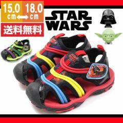即納 あす着 送料無料 サンダル キッズ ディズニー スターウォーズ ストラップ 靴 Disney STAR WARS 1008