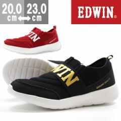 即納 あす着 送料無料 スニーカー 子供 キッズ ジュニア エドウィン スリッポン 靴 EDWIN EDW-3553