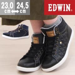 即納 あす着 送料無料 スニーカー レディース エドウィン ハイカット 靴 EDWIN EDW-4156