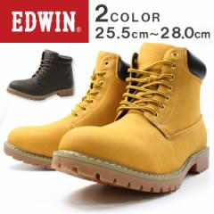 即納 あす着 送料無料 ブーツ メンズ エドウィン ハイカット 靴 EDWIN EDW-7909