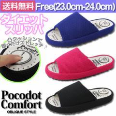 即納 あす着 送料無料 スリッパ ルームシューズ レディース 靴 Pocodotcomfort 700252