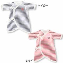 NEW ベビー肌着 ボーダー 新生児 コンビ肌着 ベビーサイズ ベビードール BABYDOLL 5723(v30)