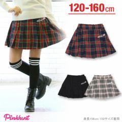 12/29〜FW_SALE50%OFF PINKHUNT チェックプリーツスカート-キッズ ジュニア ベビードール 子供服-9807K