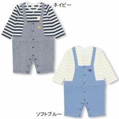 12/20NEW MY FIRST BABYDOLL-ボーダーサロペット コーデ風ロンパース-ベビーサイズ ベビードール 子供服-0117B