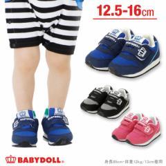 NEW ベルクロ ベビー スニーカー 靴 シューズ ベビーサイズ ベビードール BABYDOLL 子供服 -0159