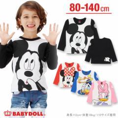 NEW 親子ペア ディズニー キャラクター  ロンT ベビーサイズ キッズ ベビードール BABYDOLL 子供服/DISNEY-0226K