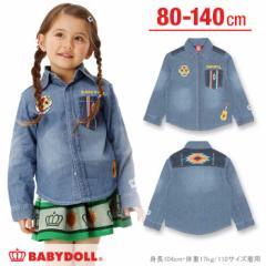 新作SALE10%OFF 2/16NEW メキシカンデニムシャツ-ベビーサイズ キッズ ベビードール 子供服-0281K