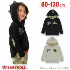 1/15NEW 恐竜なりきりジップパーカー-ベビーサイズ キッズ ベビードール 子供服-0296K