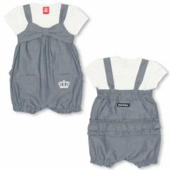 2/5NEW Tシャツ付きサロペット 2点セット -ベビーサイズ キッズ ベビードール 子供服-0380K