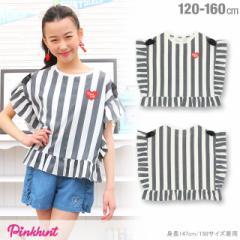 5/9NEW PINKHUNT ストライプ Tシャツ-キッズ ジュニア ベビードール 子供服-0427K