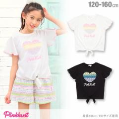 SS_SALE30%OFF PINKHUNT 前絞り Tシャツ キッズ ジュニア ベビードール 子供服-0447K