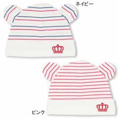 NEW MY FIRST BABYDOLL くま耳ボーダーベビー帽-新生児用 ベビーサイズ ベビードール 子供服-0459