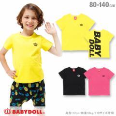 SS_SALE60%OFF 通販限定 親子ペア BIGロゴ Tシャツ ベビーサイズ キッズ ベビードール 子供服-0475K