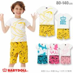 3/2NEW ディズニー キャラクター セットアップ-ベビーサイズ キッズ ベビードール 子供服 /DISNEY -0484K