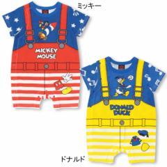 NEW ディズニー サロペット風ロンパース-ベビーサイズ キッズ ベビードール 子供服 /DISNEY -0492B