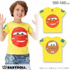 NEW ディズニー 貼付キャラクター Tシャツ ベビーサイズ キッズ ベビードール 子供服 /DISNEY -0516K