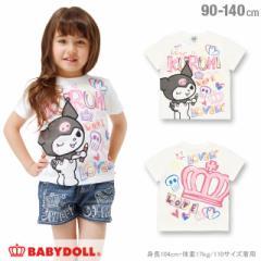 5/25一部再販 NEW サンリオ ラクガキ Tシャツ ベビーサイズ キッズ ベビードール 子供服-0527K