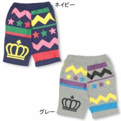 5/25NEW 通販限定 ギザギザハーフパンツ ベビーサイズ キッズ ベビードール 子供服-0544K