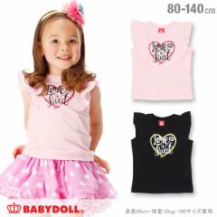 SS_SALE50%OFF ラメハート Tシャツ ベビーサイズ キッズ ベビードール 子供服-0619K