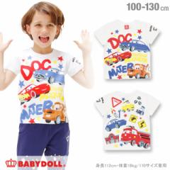 4/18NEW ディズニー キャラクター Tシャツ-ベビー キッズ ベビードール 子供服 /DISNEY -0661K