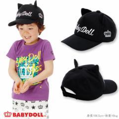 NEW ネコ耳付きキャップ-雑貨 帽子 キッズ 子供用 ベビードール 子供服-0684