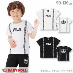 SALE20%OFF NEW 親子ペア FILA ロゴライン Tシャツ-ベビーサイズ キッズ ベビードール 子供服-0698K