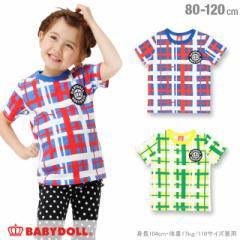 チェック Tシャツ ベビーサイズ キッズ ベビードール BABYDOLL-0774K