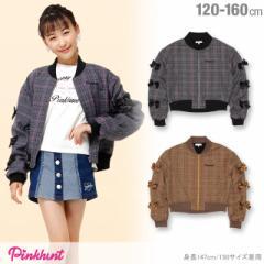 NEW PINKHUNT グレンチェック ジャケット 0911K ベビードール BABYDOLL 子供服 キッズ ジュニア 女の子 防寒 アウター
