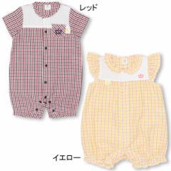 【4/22まで】60%OFF SALE アウトレット MY FIRST 子供服 チェック柄 ロンパース ベビーサイズ 新生児 ベビードール 子供服 0991B
