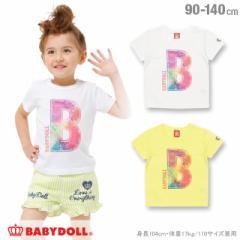 SS_SALE30%OFF イニシャル Tシャツ ベビーサイズ キッズ ベビードール 子供服-1096K