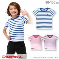 8/1一部再販 SS_SALE50%OFF 親子ペア ボーダー Tシャツ ベビーサイズ キッズ ジュニア ベビードール ペアルック 子供服 -1101K