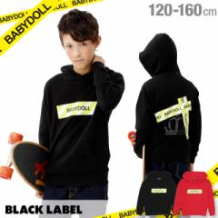 NEW BLACK LABEL テープ 貼付 パーカー 1470K ベビードール BABYDOLL 子供服 キッズ ジュニア 男の子 女の子(v30)