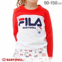 NEW サンリオ FILA キティ ロンT 1737K ベビードール 子供服 ベビーサイズ キッズ 男の子 女の子 スポーティ
