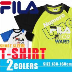 【決算セール】フィラ FILA 半袖 Tシャツ キッズ ジュニア 男の子 女の子 ドライ メッシュ ホワイト ライム 130cmから160cm