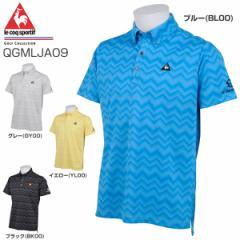 ルコック メンズ ゴルフウェア スウェルジャカード 半袖ポロシャツ QGMLJA09 2018年春夏モデル M-LL