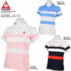 ルコック レディース ゴルフウェア トランスドライコットン 半袖ポロシャツ QGWLJA10 2018年春夏モデル S-LL