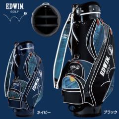 エドウィンゴルフ デニムプリント キャディバッグ EDWIN-039