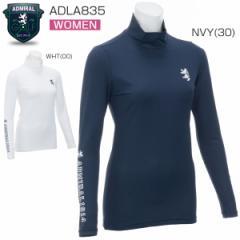 アドミラル レディース ゴルフウェア チェックエンボス ハイネック 長袖シャツ ADLA835 2018年春夏モデル