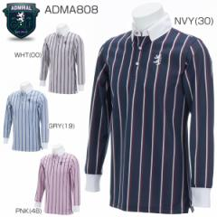 アドミラル メンズ ゴルフウエア レジメンタル 長袖ポロシャツ ADMA808 2018年春夏モデル