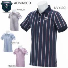 アドミラル メンズ ゴルフウエア レジメンタル 半袖ポロシャツ ADMA809 2018年春夏モデル