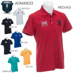 アドミラル メンズ ゴルフウエア フラッグ 半袖ポロシャツ ADMA833 2018年春夏モデル
